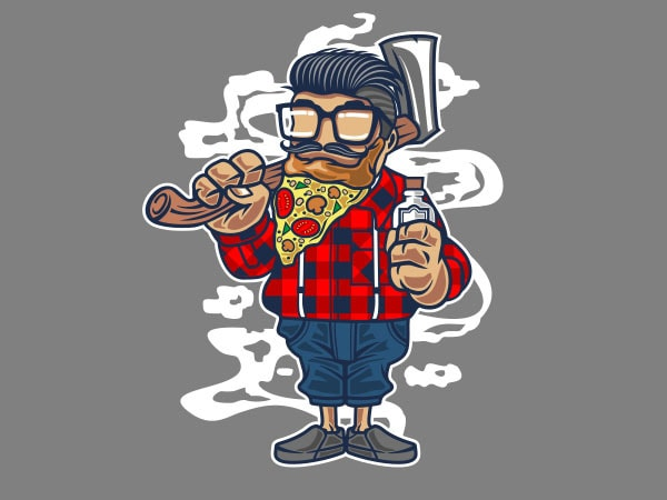 Pizza Beard Vector t-shirt design buy t shirt design