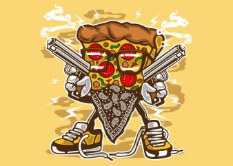 Pizza Gangster Vector t-shirt design buy t shirt design
