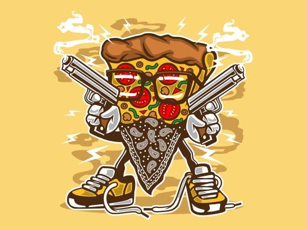 Pizza Gangster Vector t-shirt design buy t shirt design