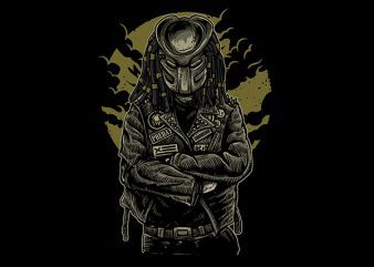 Predator Vector t-shirt design buy t shirt design