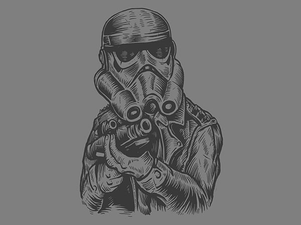 Punktrooper Vector t-shirt design