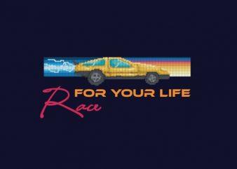 Race For Your Life tshirt design buy t shirt design