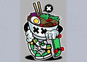 Ramen Style Vector t-shirt design buy t shirt design