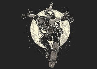 Rebel Skater Vector t-shirt design