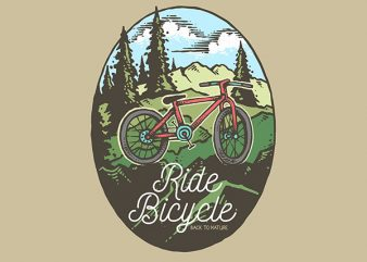 Ride Bicycle Vector t-shirt design buy t shirt design