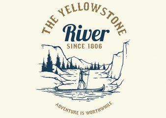 River Adventure Vector t-shirt design