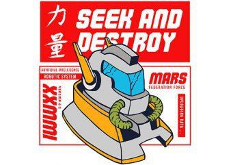 Robo Vector t-shirt design