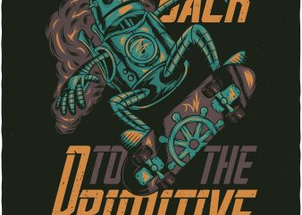 Back to the primitive. Vector T-Shirt Design
