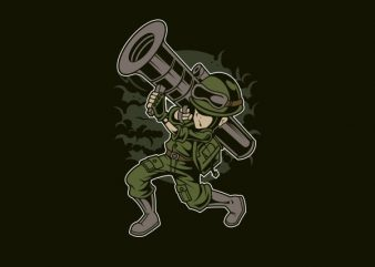 Rocket Launcher Vector t-shirt design