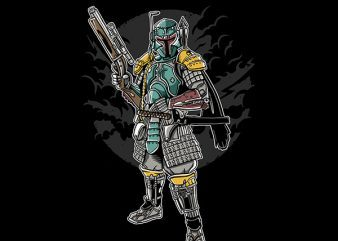 Ronin Hunter Vector t-shirt design buy t shirt design
