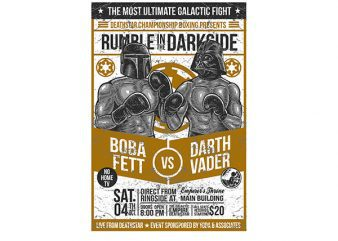 Rumble In The Darkside Graphic t-shirt design buy t shirt design