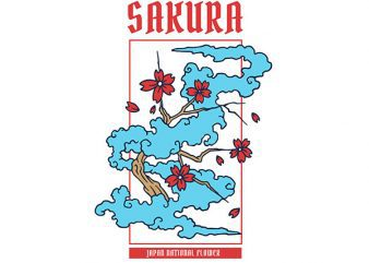 Sakura Graphic t-shirt design