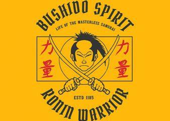Samurai Graphic t-shirt design buy t shirt design