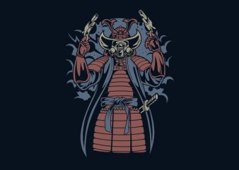 Samurai Apocalypse Vector t-shirt design buy t shirt design