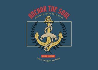 Anchor Graphic t-shirt design buy t shirt design