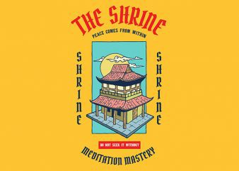 Shrine Graphic t-shirt design