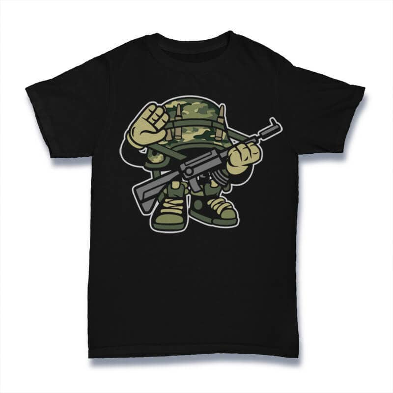 Soldier Vector t-shirt design buy t shirt design