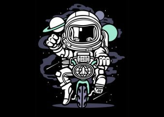 Space Bike Graphic t-shirt design buy t shirt design