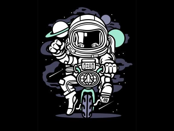 Space Bike Graphic t-shirt design