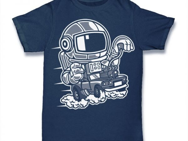 Space Racer Graphic t-shirt design buy t shirt design