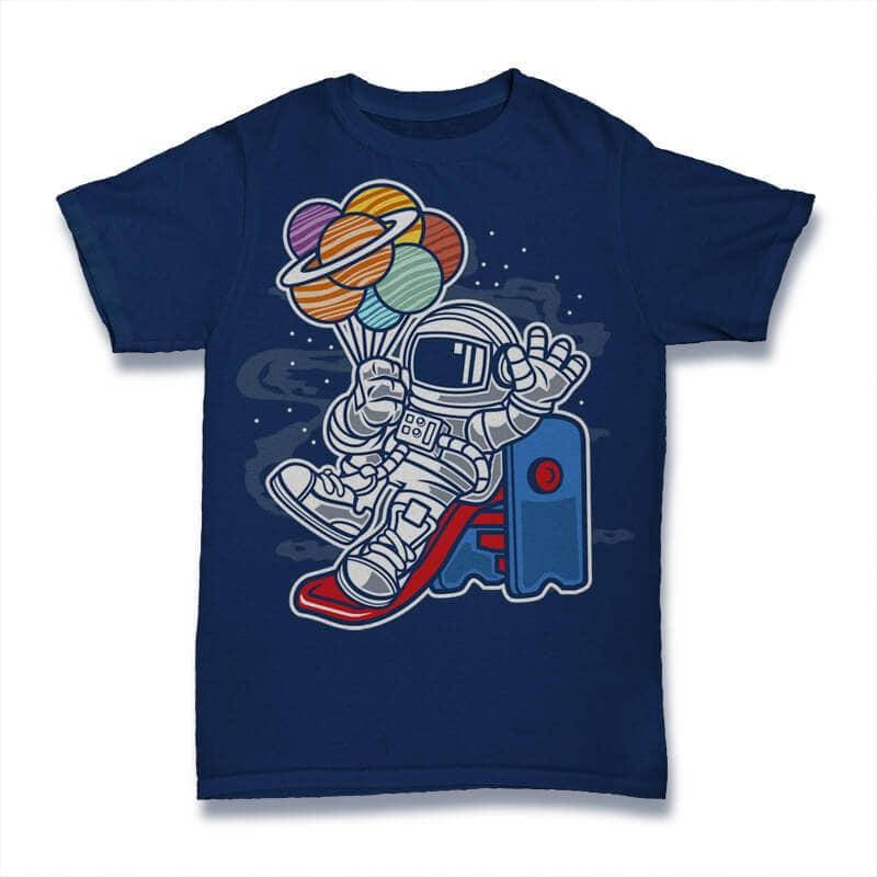 Space Slider Graphic t-shirt design buy t shirt design