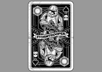Stormtrooper Playing Card Vector t-shirt design buy t shirt design