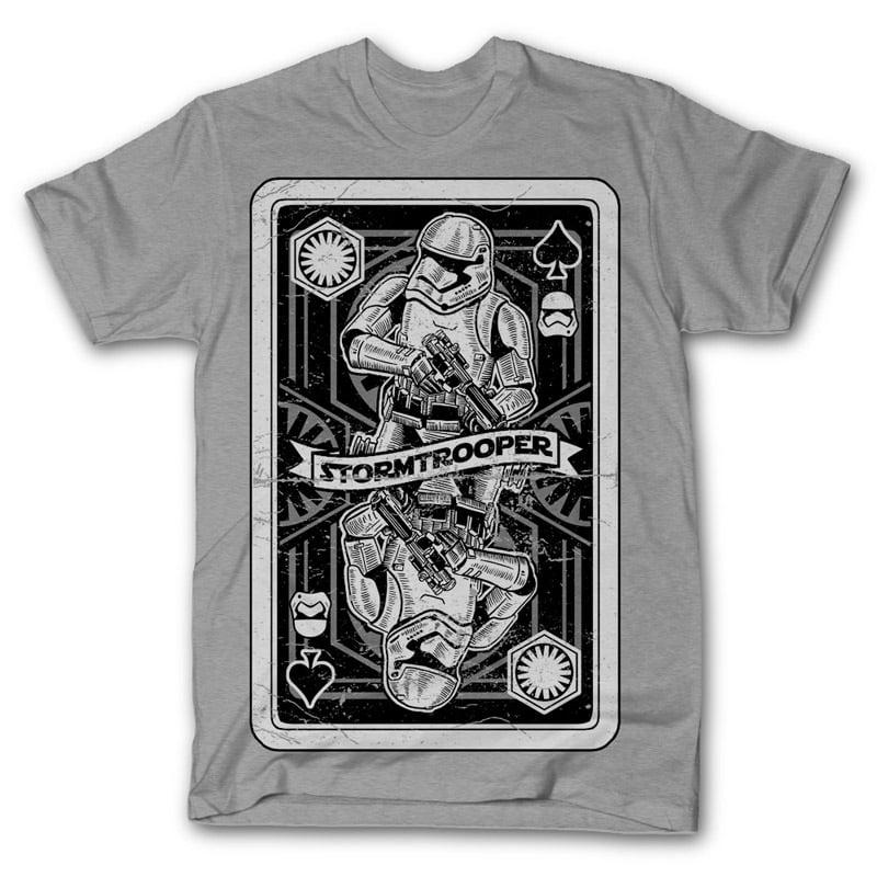 Stormtrooper Playing Card Vector t-shirt design buy t shirt design