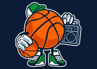 Street Basketball Graphic t-shirt design