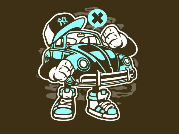 Street Beetle Graphic t-shirt design buy t shirt design