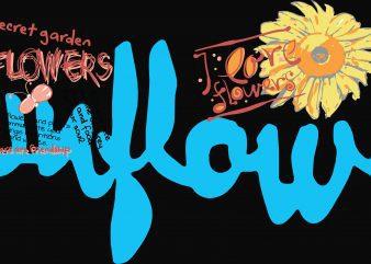 Sunflower Kids Tshirt Design buy t shirt design