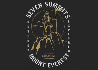 The Summit Graphic t-shirt design
