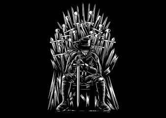 The Thrones Of Vendetta Vector t-shirt design t shirt template