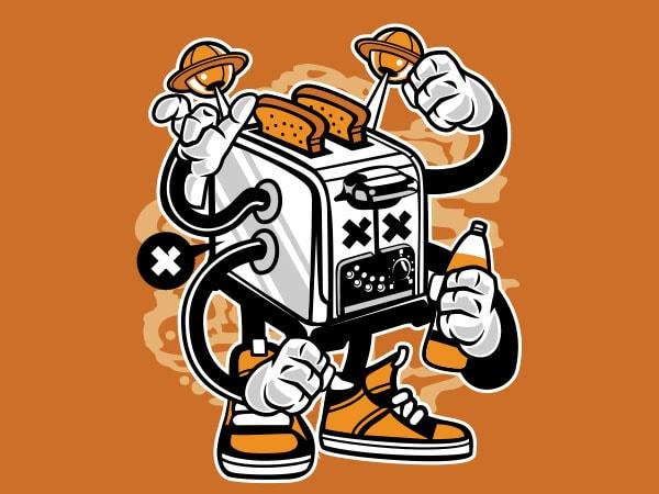 Toaster Monster Vector t-shirt design buy t shirt design