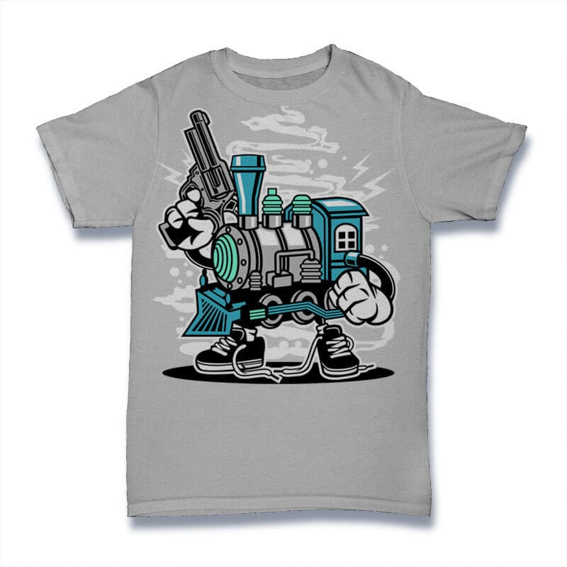 Train Killer Graphic t-shirt design buy t shirt design