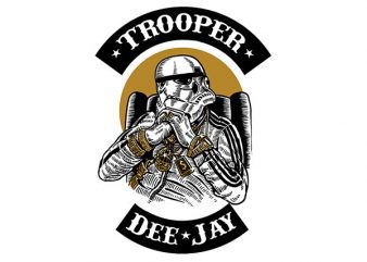 Trooper Dee Jay Vector t-shirt design buy t shirt design