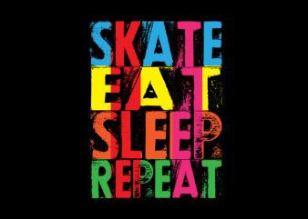 skate eat sleep repeat Vector t-shirt design buy t shirt design