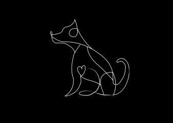 Dog Line Vector t-shirt design
