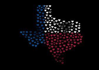 texas heart Vector t-shirt design t shirt vector
