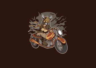 Viking Motorcycle Vector t-shirt design buy t shirt design