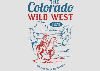 Wild West Graphic t-shirt design buy t shirt design