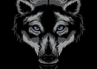 Wolf t-shirt design template vector art