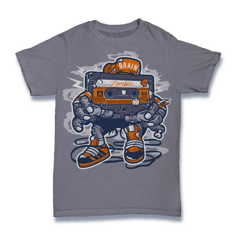 Zombie Cassette Graphic t-shirt design buy t shirt design