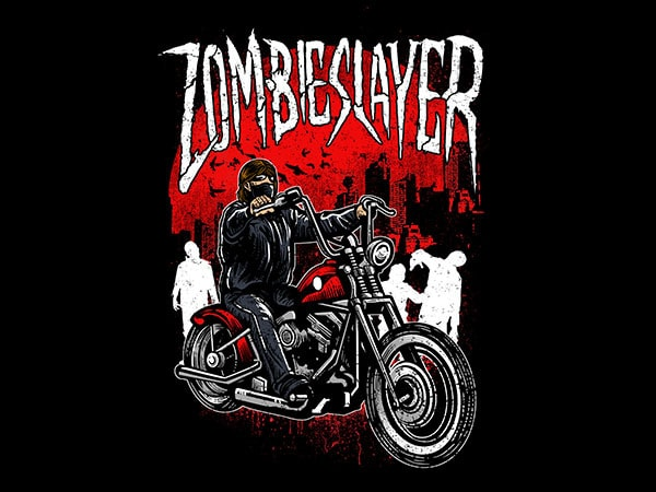 Zombie Slayer Vector t-shirt design buy t shirt design