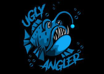 Angler fish ugly T-Shirt design vector illustration buy t shirt design