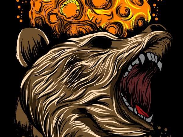 Angry Bear T-shirt vector template