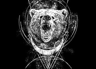angry bear tshirt design buy t shirt design