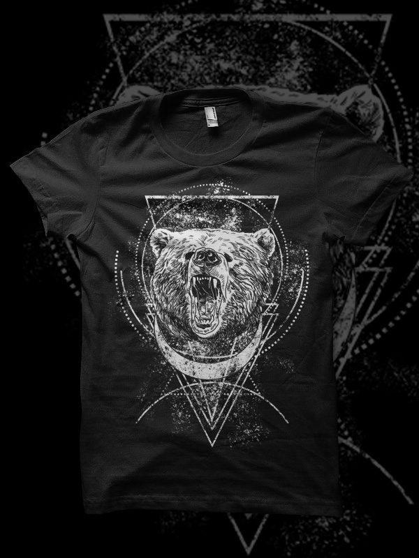 angry bear tshirt design buy t shirt design