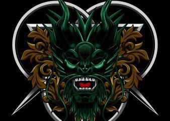 Angry Dragon T-shirt Template vector illustration buy t shirt design