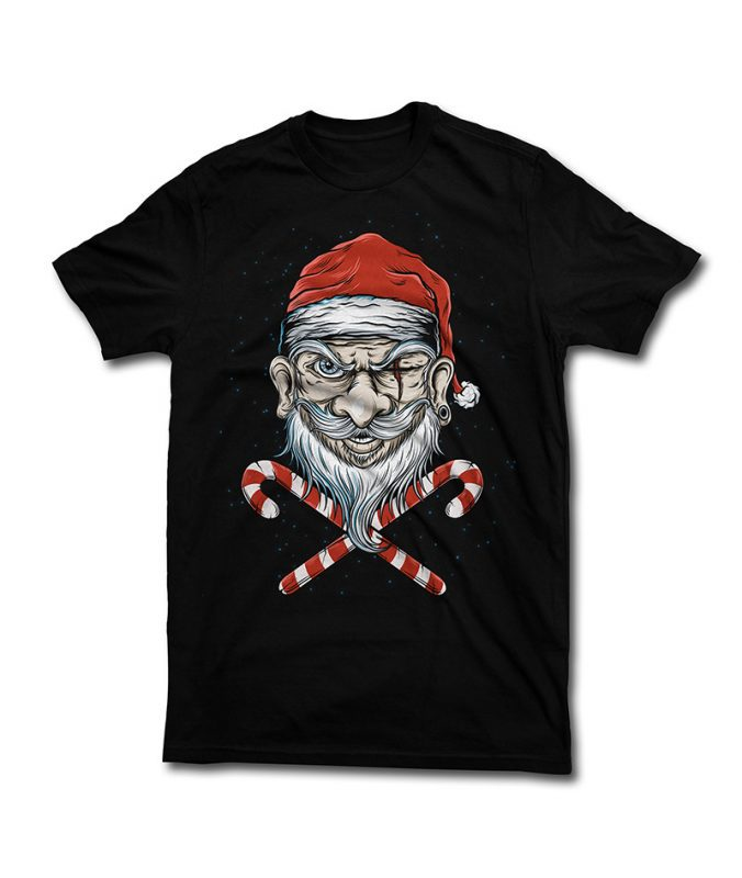 Badass Santa buy t shirt design