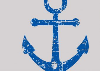 DIstressed Anchor Cool Vector